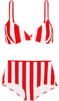 Solid and Striped The Brigitte Striped Bikini - Red