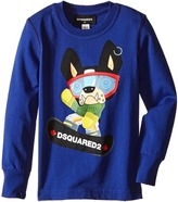 DSQUARED2 Long Sleeve Skateboard Dog Graphic T-Shirt Boy's T Shirt