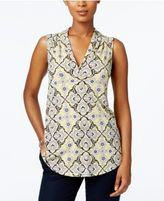 Charter Club V-Neck Print Top, Only at Macy's