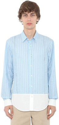 J.W.Anderson Logo Striped Cotton Poplin Shirt