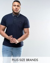 French Connection PLUS Polo Shirt with Pocket and Contrast Collar