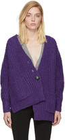 Isabel Marant Purple Favian Cardigan