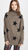 Chrldr Falling Stars Turtleneck Sweater