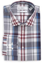 Men's Calibrate Trim Fit Non-Iron Plaid Stretch Dress Shirt