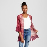 Xhilaration Women's Lace-trim Kimono Jacket Juniors')