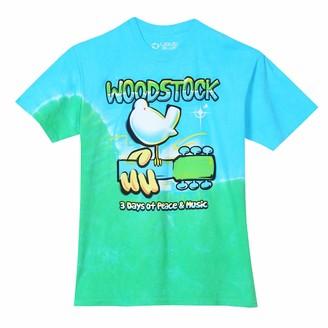 Liquid Blue Men's Plus Size Woodstock Graffiti Tie Dye Tee 2X