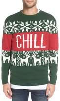 Altru 'Chill Vibes' Intarsia Crewneck Sweater