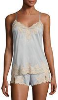 Josie Natori Charlize Lace-Trim Jersey Lounge Camisole