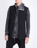 Boris Bidjan Saberi Toggle-detailed cotton waistcoat