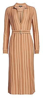 Loro Piana Women's Stripe Belted Cashmere & Silk Dress
