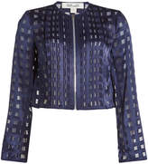 Diane von Furstenberg Jacket with Sheer Inserts