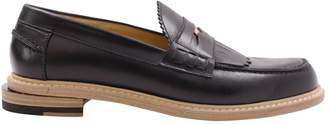 Band Of Outsiders \N Black Leather Flats