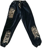 Ksenia Schnaider Blue Cotton Trousers