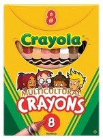 Crayola Multicultural Crayons, 8 Skin Tone Colors/Box
