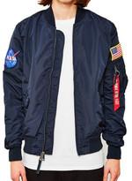 Alpha Industries NASA MA-1 Reversible Bomber Jacket Blue blue