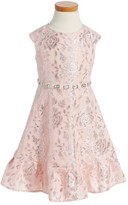 Sweet Heart Rose Girl's Embellished Fit & Flare Dress