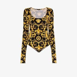 Versace baroque print bodysuit
