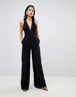 Asos Jumpsuit with Lace Top Fringing