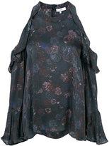 IRO cold shoulder floral blouse