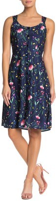 Papillon Floral Back Cutout Dress