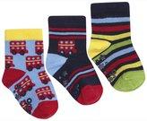 Jo-Jo JoJo Maman Bebe 3 Pack Bus Socks (Baby)-Navy-0-6 Months