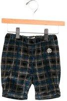 Roberto Cavalli Boys' Velvet Plaid Shorts w/ Tags