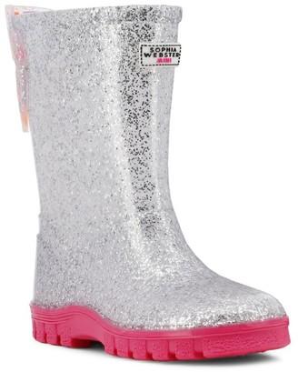 Sophia Webster Baby's, Little Girl's & Girl's Butterfly Welly Glitter Rain Boots