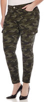 Arizona Twill Cargo Jeggings - Juniors Plus