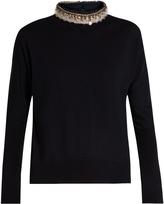 Marni Embellished wool and silk-blend sweater