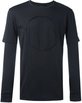 3.1 Phillip Lim long sleeve circle T-shirt - men - Cotton - S