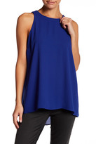 Vince Camuto Pleated Back Blouse (Petite)
