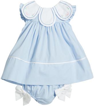 Luli & Me Girl's Petal Collar Float Dress, Size 3-24 Months