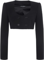 Dolce & Gabbana Cropped Wool-Blend Top