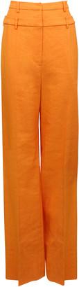 REJINA PYO Laila Double-Waist Cotton-Linen Blend Wide-Leg Trousers