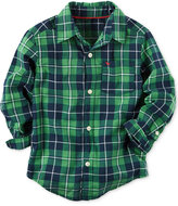 Carter's Green Plaid Shirt, Toddler Boys (2T-4T) & Little Boys (2-7)