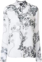 Just Cavalli chain print shirt