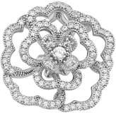 GoldenMine .925 Sterling Rhodium Plated Cubic Zirconia Open Flower Design Fashion Charm Pendant