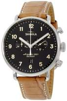 Shinola 20001942 Stainless Steel & Leather Quartz 43mm Mens Watch