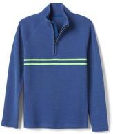 Gap Striped zip mockneck pullover