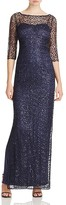 Kay Unger Lace Illusion Gown