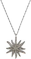 Silver & 2.50 Total Ct. Brown Diamond Sunburst Pendant Necklace
