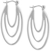 T Tahari Silver-Tone Leverback Drop Earrings