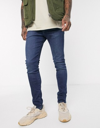 Levi's skinny tapered fit jeans in sage overt advance stretch dark wash