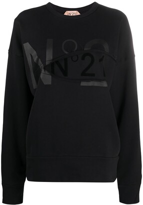 No.21 Logo-Print Sweatshirt
