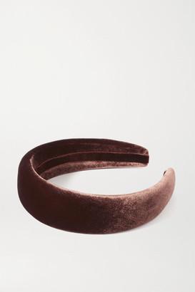 Sophie Buhai Velvet Headband - Brown