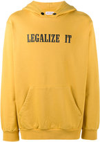 Palm Angels legalize it printed hoodie - men - Cotton - XS