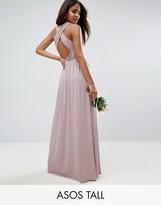 ASOS Tall ASOS TALL Wedding Drape Twist Back Maxi Dress