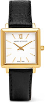 Larsson & Jennings Norse Textured-leather And Gold-plated Watch - one size
