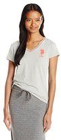 U.S. Polo Assn. Junior's Cotton Jersey V-Neck Big Logo T-Shirt