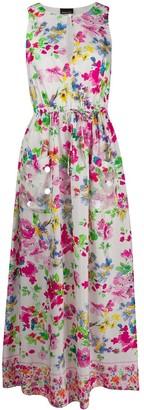 Ermanno Ermanno Floral Print Maxi Dress